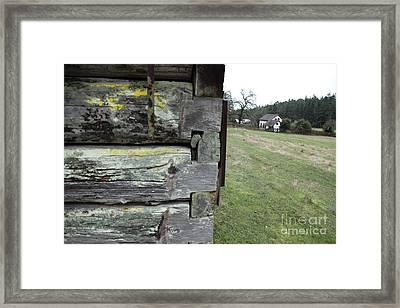 Log House Detail Framed Print by Graham Foulkes