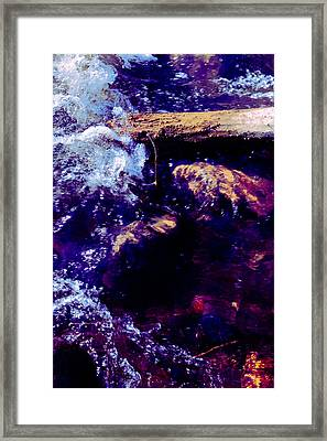 Log In River Framed Print by Nicole Swanger