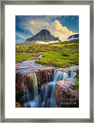 Logan Pass Landscape Framed Print by Inge Johnsson
