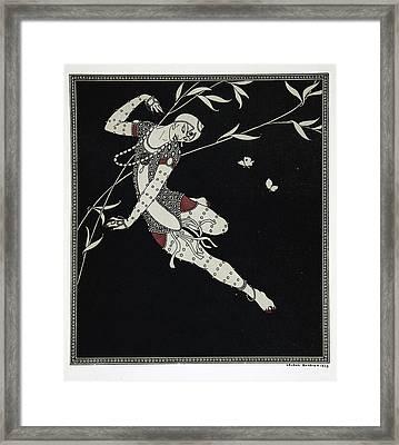 L'oiseau De Feu Framed Print by Georges Barbier