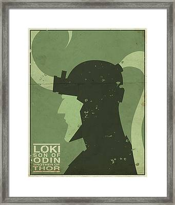 Loki - Son Of Odin Framed Print by Michael Myers