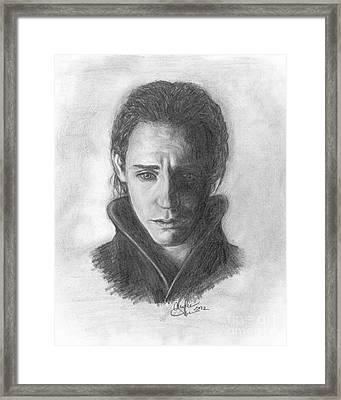 Loki Framed Print by Christine Jepsen