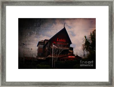 Lokis Bar And Grill Framed Print by Doc Braham