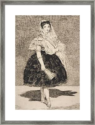 Lola De Valence Framed Print by Edouard Manet