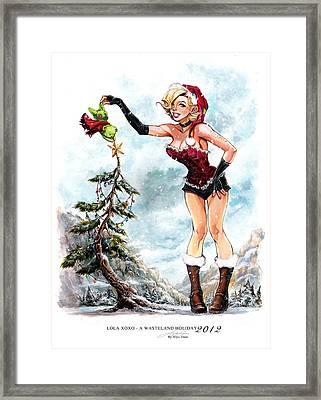 Lola Xoxo A Wasteland Holiday 2012 Framed Print by Siya Oum