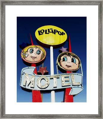 Lollipop Motel Framed Print by Mountain Dreams