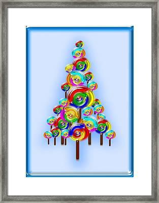 Lollipop Tree Framed Print by Anastasiya Malakhova