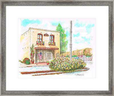 Lompoc Chamber Of Comerce - Lompoc - California Framed Print by Carlos G Groppa