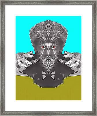 Lon Chaney Jr Alias In The Wolf Man Framed Print by Art Cinema Gallery