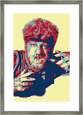 Lon Chaney Jr In The Wolf Man Framed Print by Art Cinema Gallery