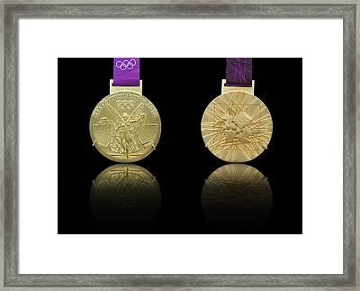 London 2012 Olympics Gold Medal Design Framed Print by Matthew Gibson