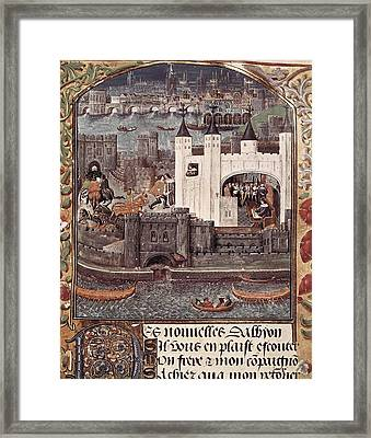London And The Thames 15th C.. Gothic Framed Print by Everett