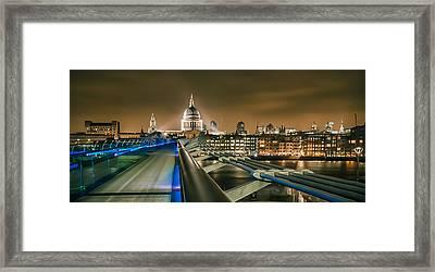 London At Night Framed Print by Ian Hufton