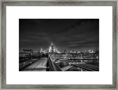 London Black And White Framed Print by Ian Hufton
