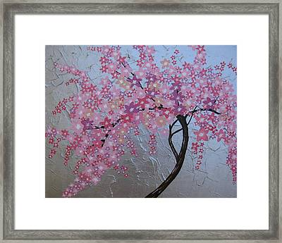 London Blossoms Framed Print by Cathy Jacobs