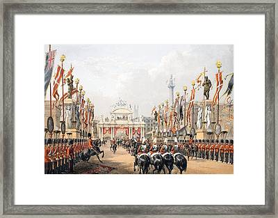 London Bridge, Kept By The Honourable Framed Print by English School