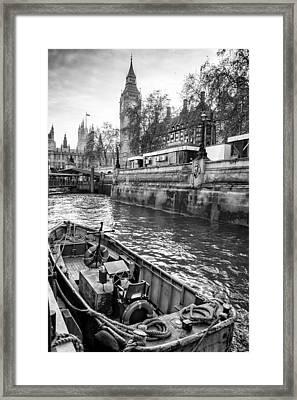 London Dock Framed Print by Glenn DiPaola