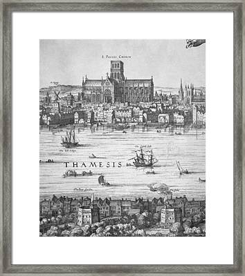 London During Elizabeth Is Reign 17th Framed Print by Everett