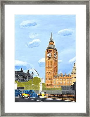 London England Big Ben  Framed Print by Magdalena Frohnsdorff