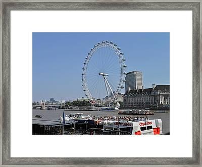 London Eye 2 Framed Print by Kay Gilley