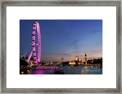 London Eye Framed Print by Rod McLean