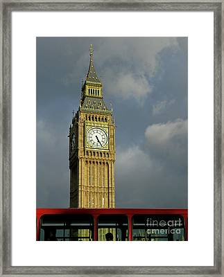London Icons Framed Print by Ann Horn