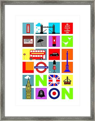 London Framed Print by Mark Rogan