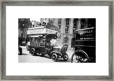 London Motor Bus Framed Print by Library Of Congress