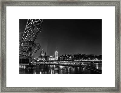 London Night Cityscape Framed Print by Ian Hufton