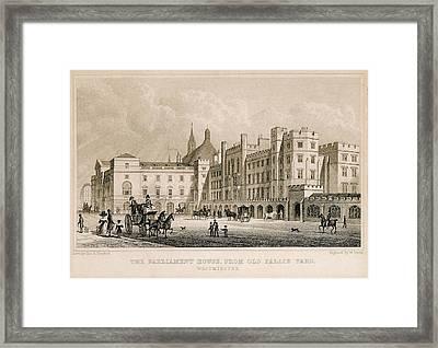 London. Parliament. Engraving - � J Framed Print by Everett