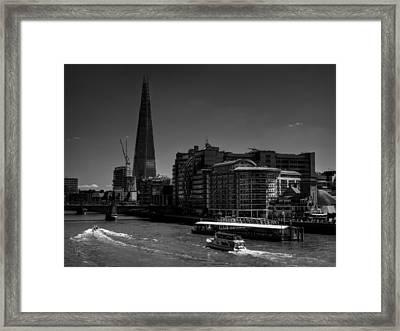London - River Thames 001 Framed Print by Lance Vaughn