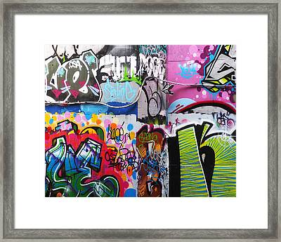London Skate Park Abstract Framed Print by Rona Black