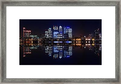 London Skyline Panoramic Framed Print by Ian Hufton