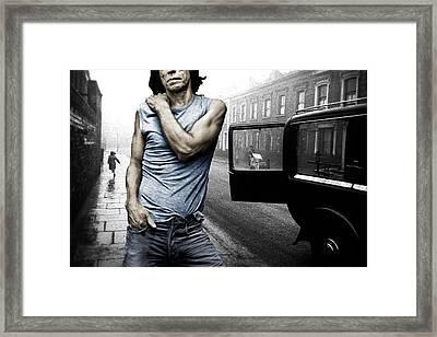 London Street Satisfaction With Mick Jagger Framed Print by Tony Rubino