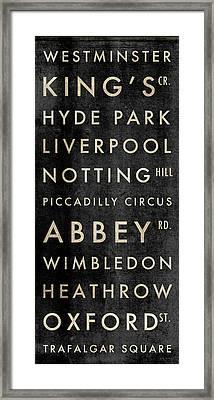 London Subway Framed Print by Aubree Perrenoud