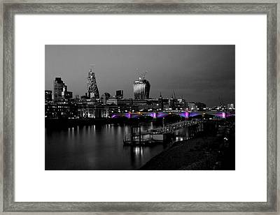 London Thames Bridges Bw Framed Print by David French