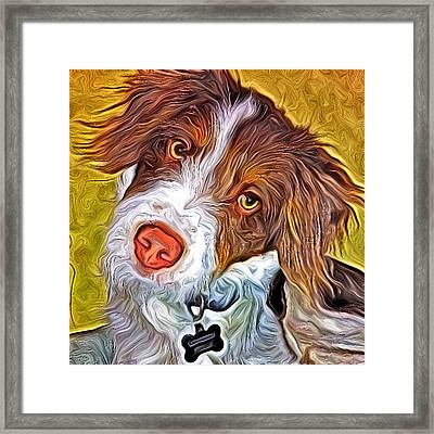 London The Dog Portrait Framed Print by Artistinoz Jodie sims