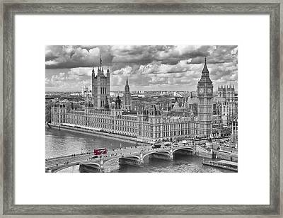 London Westminster Framed Print by Melanie Viola