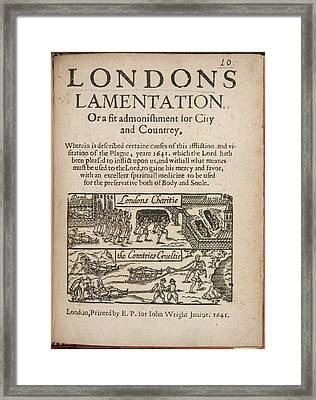 London's Lamentation Framed Print by British Library