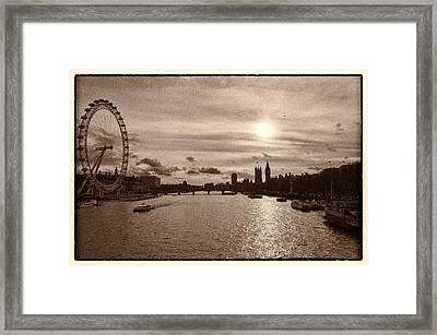 Londonscape Framed Print by Lenny Carter