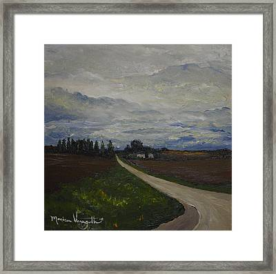Lone Country Road Framed Print by Monica Veraguth