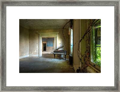 Lone Piano Framed Print by Sheri Knauer
