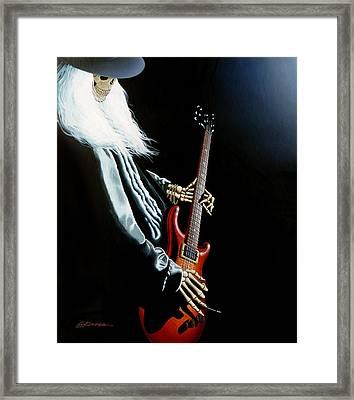 Lone Player Framed Print by Gary Kroman
