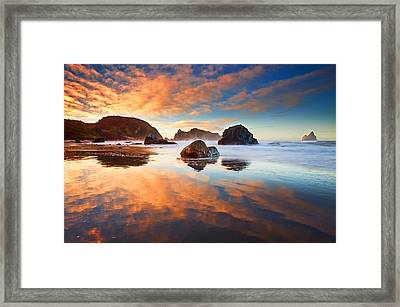 Lone Ranch Light Show Framed Print by Darren  White