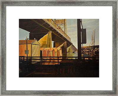 Lone Seagull Framed Print by Thu Nguyen