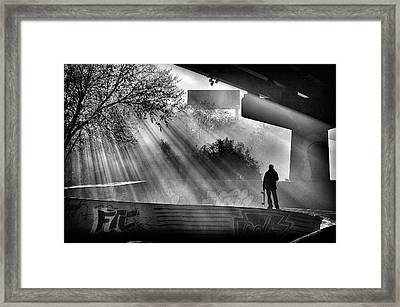 Lone Skater Framed Print by Scott  Wyatt