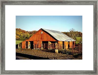 Lone Star Barn Framed Print by Cricket Hackmann