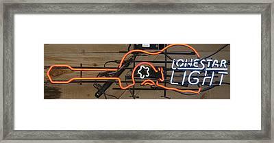 Lone Star Light Beer Framed Print by Kathy Peltomaa Lewis