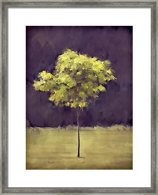 Lone Tree Willamette Valley Oregon Framed Print by Carol Leigh