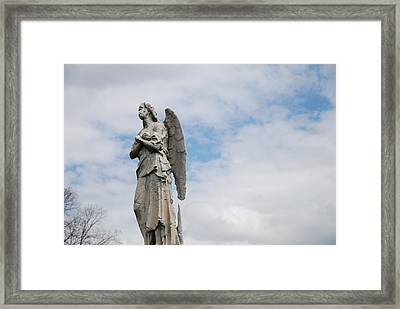 Lonely Angel Framed Print by Jennifer Ancker